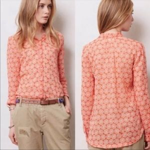 Anthropologie Hei Hei Button-up Floral Print